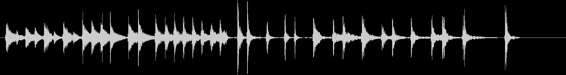 三味線245即興ジングル和風宇宙人不思議の未再生の波形