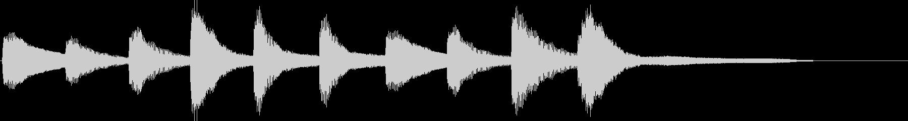 不思議な世界観・10秒のピアノソロの未再生の波形