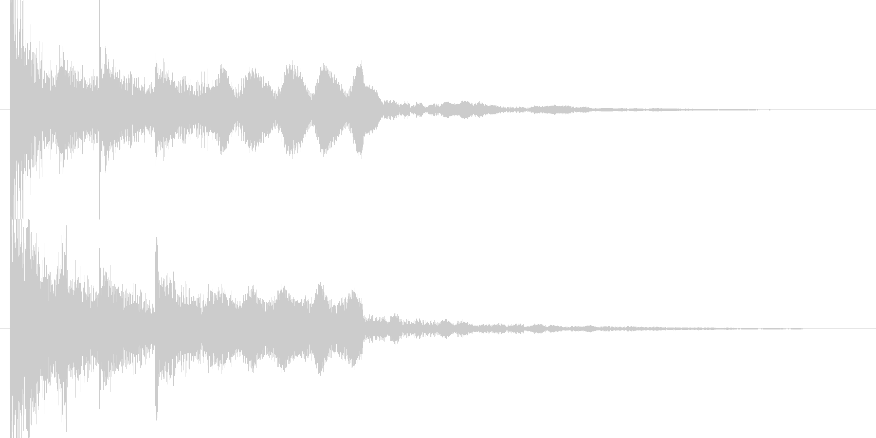 和風スタートクリックyoutubeのCMの未再生の波形