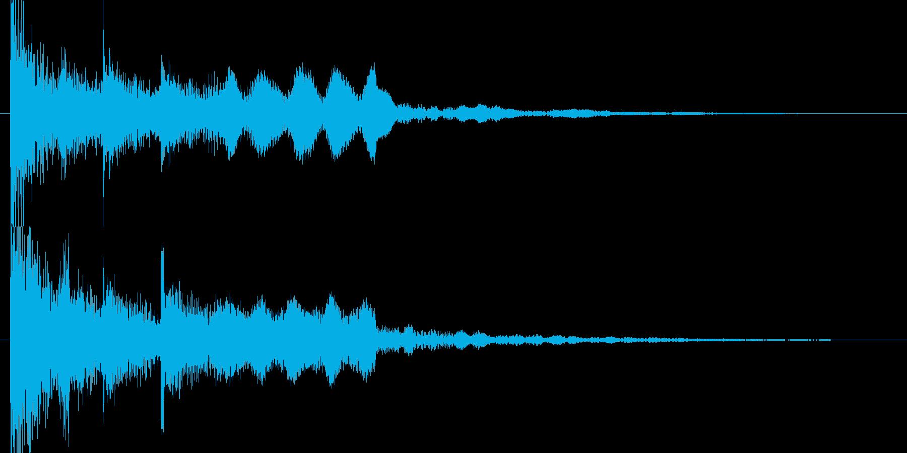和風スタートクリックyoutubeのCMの再生済みの波形
