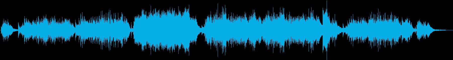 凛としてドラマチックなピアノ曲の再生済みの波形
