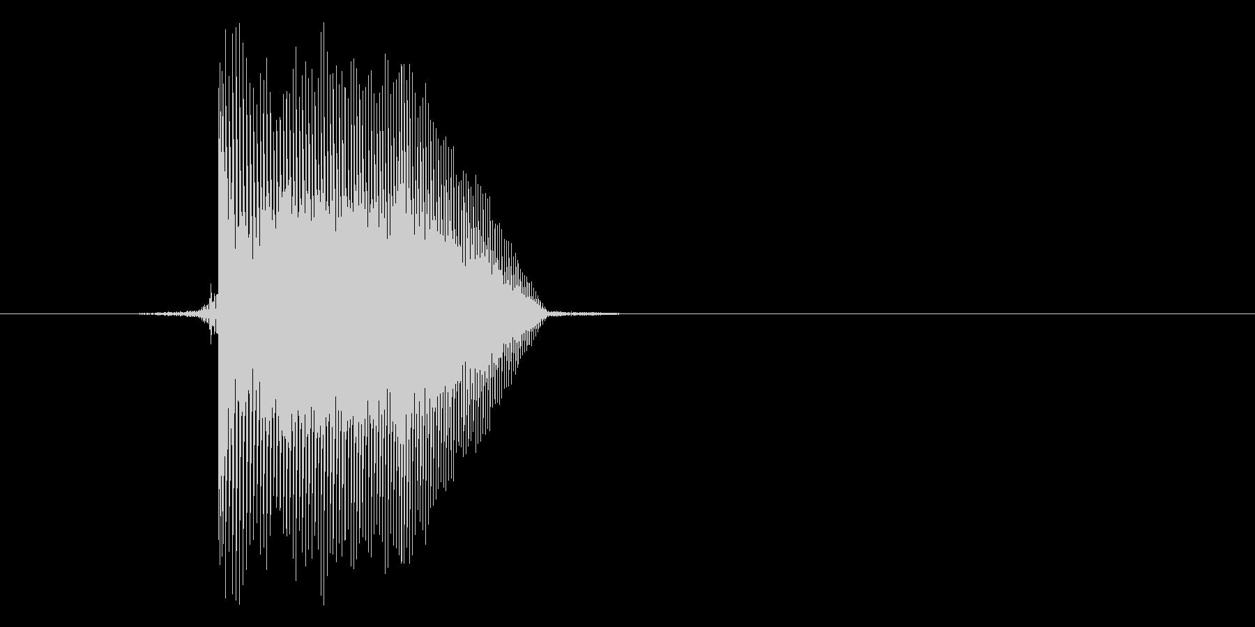 ゲーム(ファミコン風)ジャンプ音_028の未再生の波形