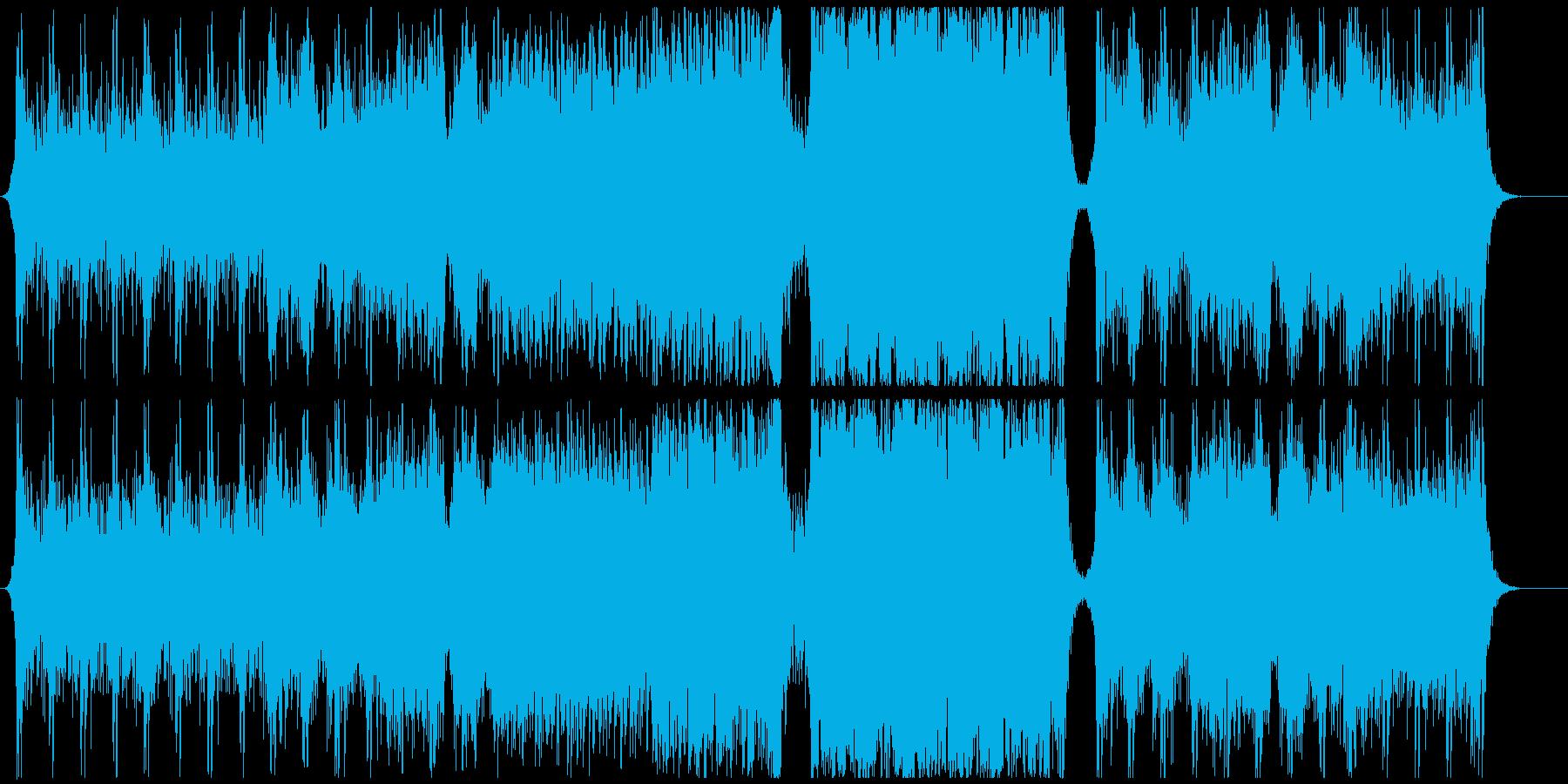 緊張感のあるエピックオーケストラの再生済みの波形