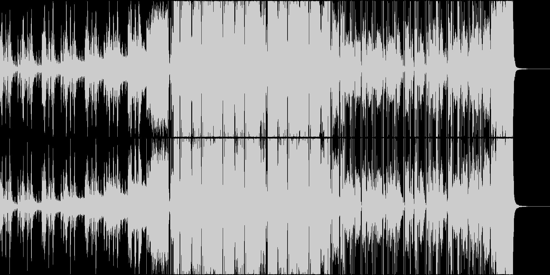 サブカル系女子の可愛いエレクトロの未再生の波形