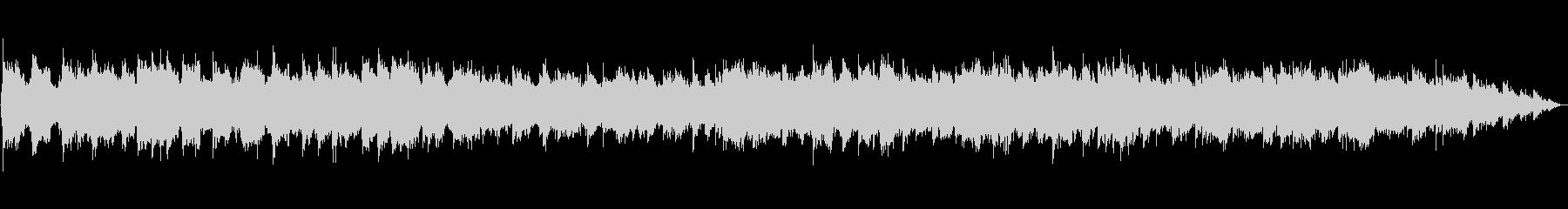 生演奏の笛のヒーリングミュージックの未再生の波形