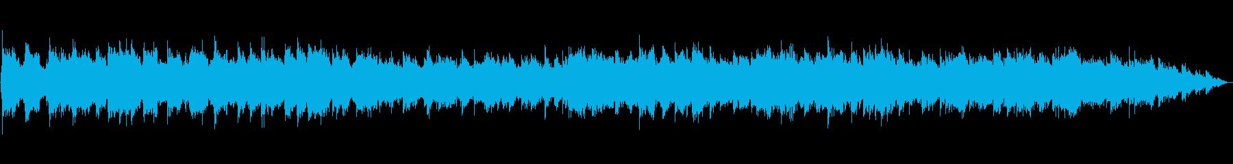 生演奏の笛のヒーリングミュージックの再生済みの波形