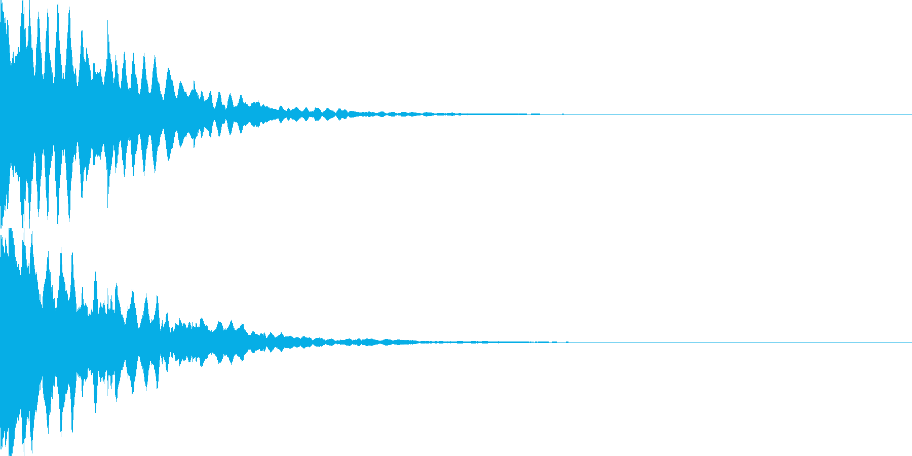アイテム獲得音03の再生済みの波形