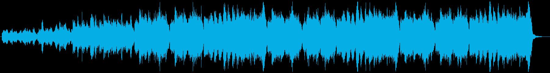 不気味な雰囲気のオーケストラBGMの再生済みの波形
