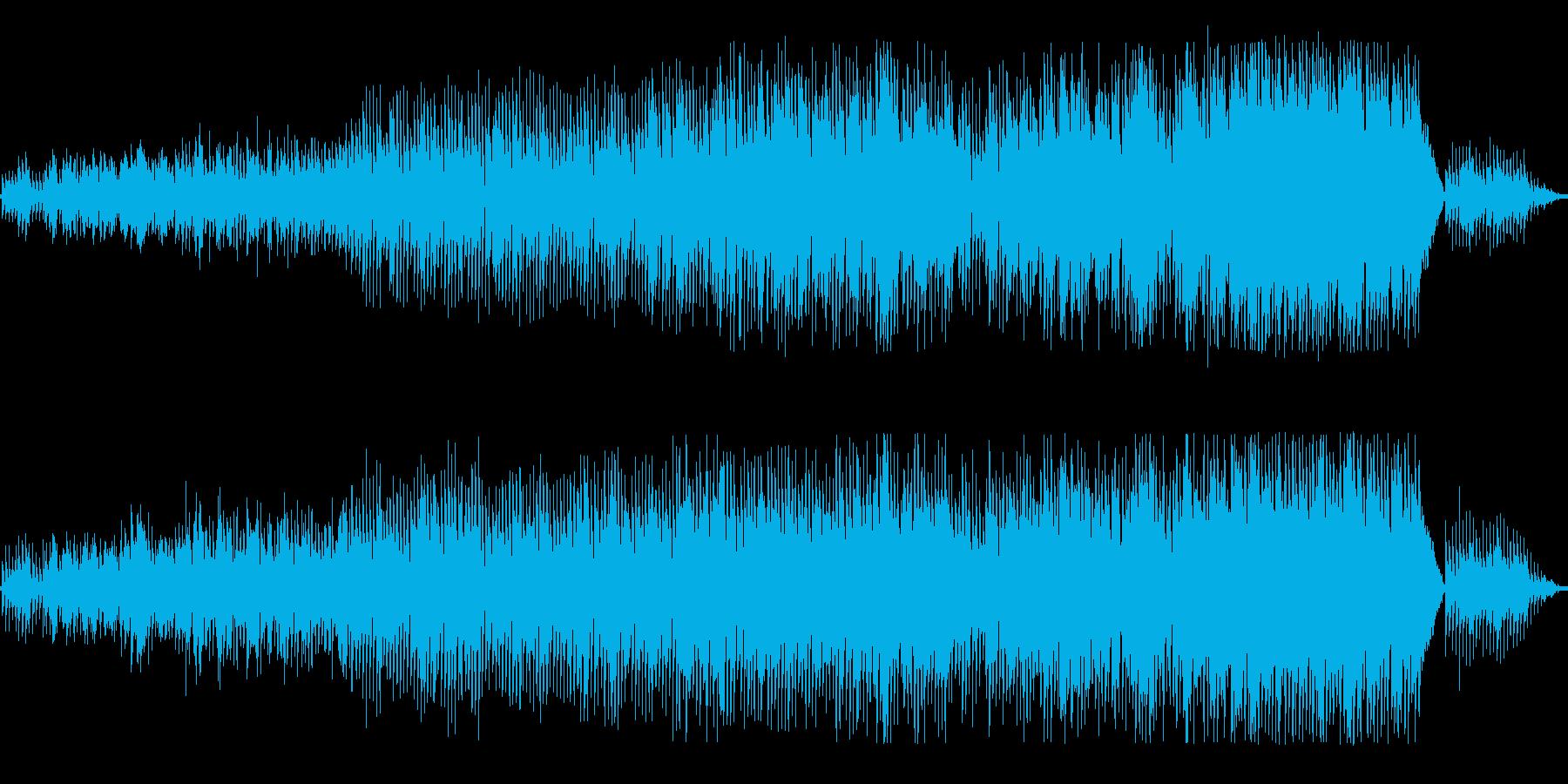 ピアノとブラス_ゆったり軽快なスウィングの再生済みの波形