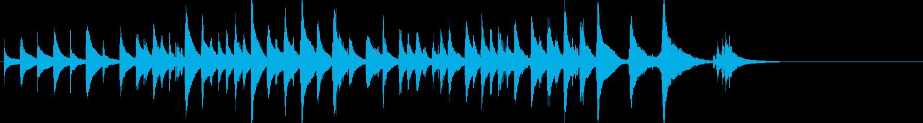 短縮版】コミカルで可愛らしい雰囲気の木琴の再生済みの波形