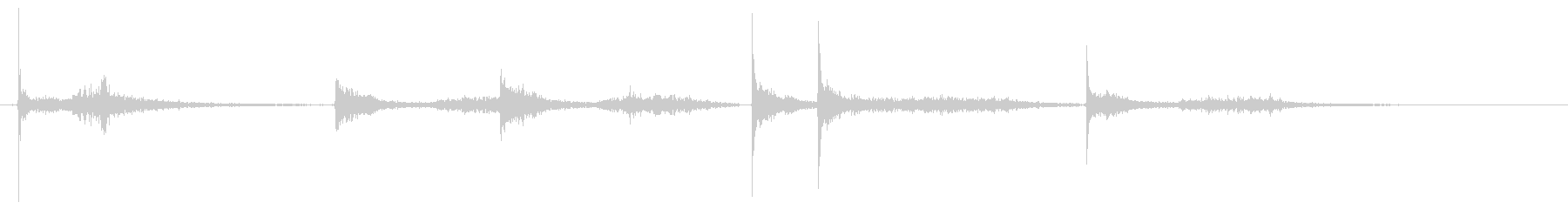 バーーン バン バーンの未再生の波形