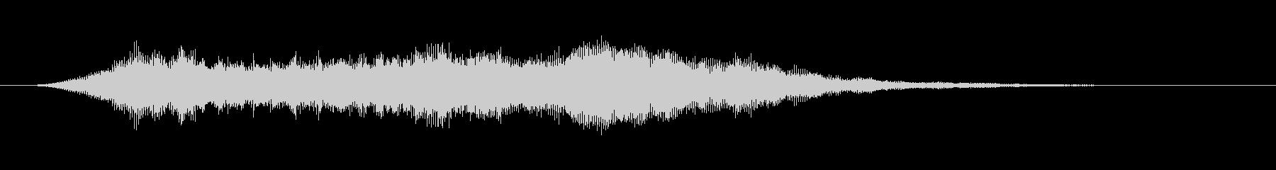 未来感のある電子音のサウンドロゴの未再生の波形