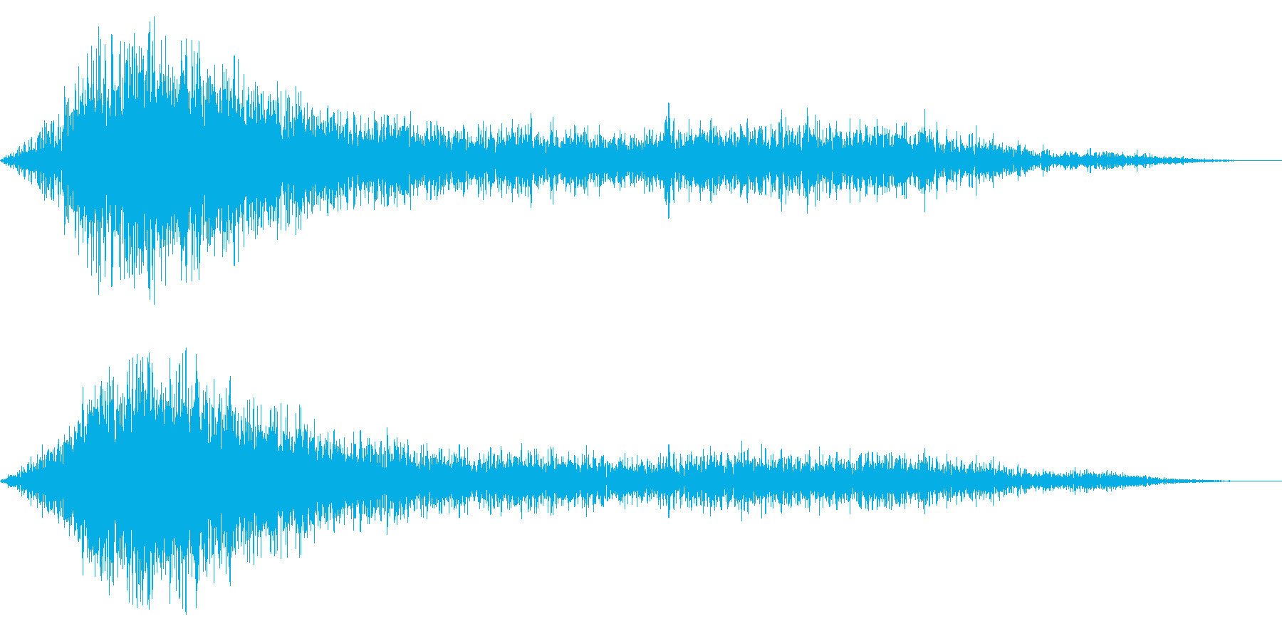 ホラー系アタック音17の再生済みの波形