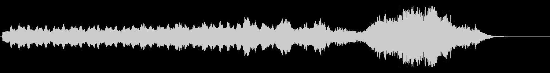 不気味な雰囲気のシンセ曲の未再生の波形