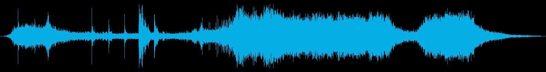 ガスチェーンソー:ショートカット、...の再生済みの波形