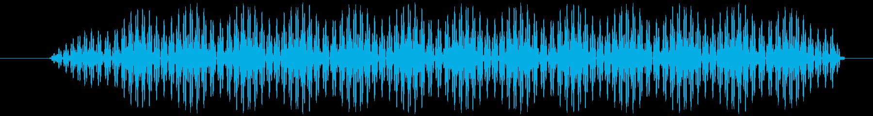 電子音 ビッの再生済みの波形