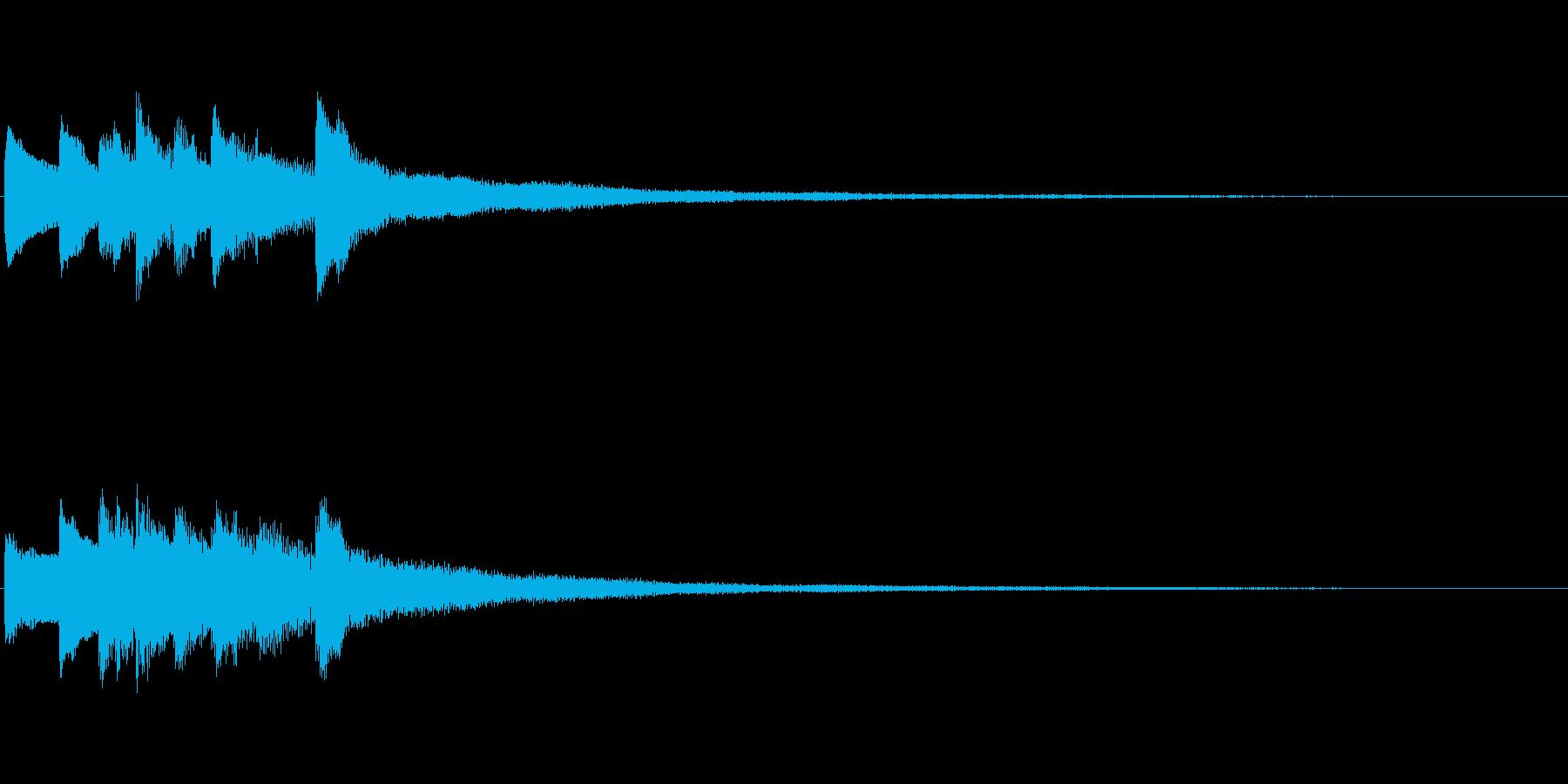 ピアノソロサウンドロゴ 優雅 大人 05の再生済みの波形