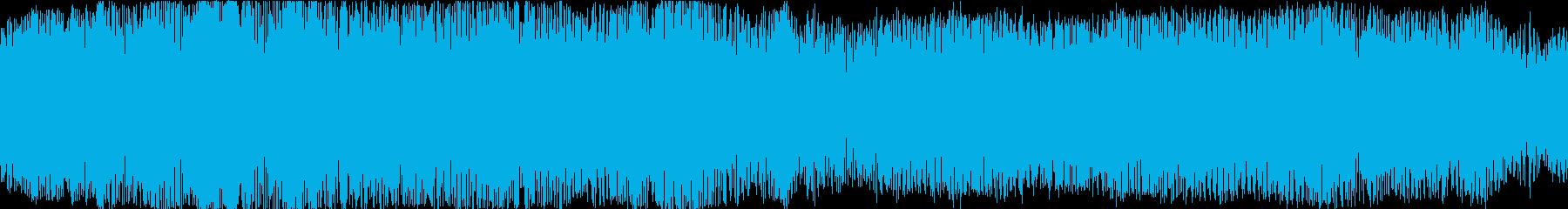 ダークで怖いホラー向けなBGMの再生済みの波形