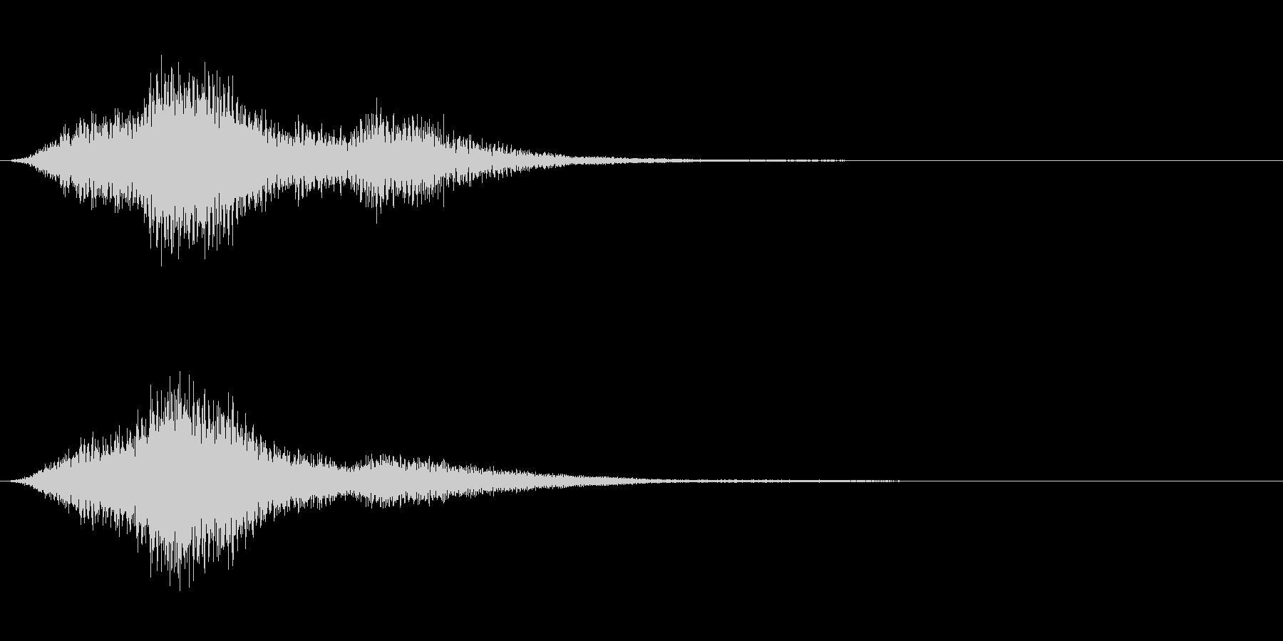 シンバルによる不気味な音の未再生の波形