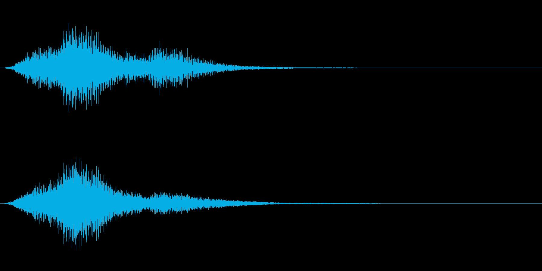 シンバルによる不気味な音の再生済みの波形