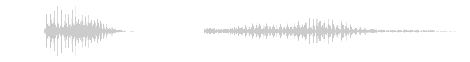 「8 PM」英語発音の未再生の波形