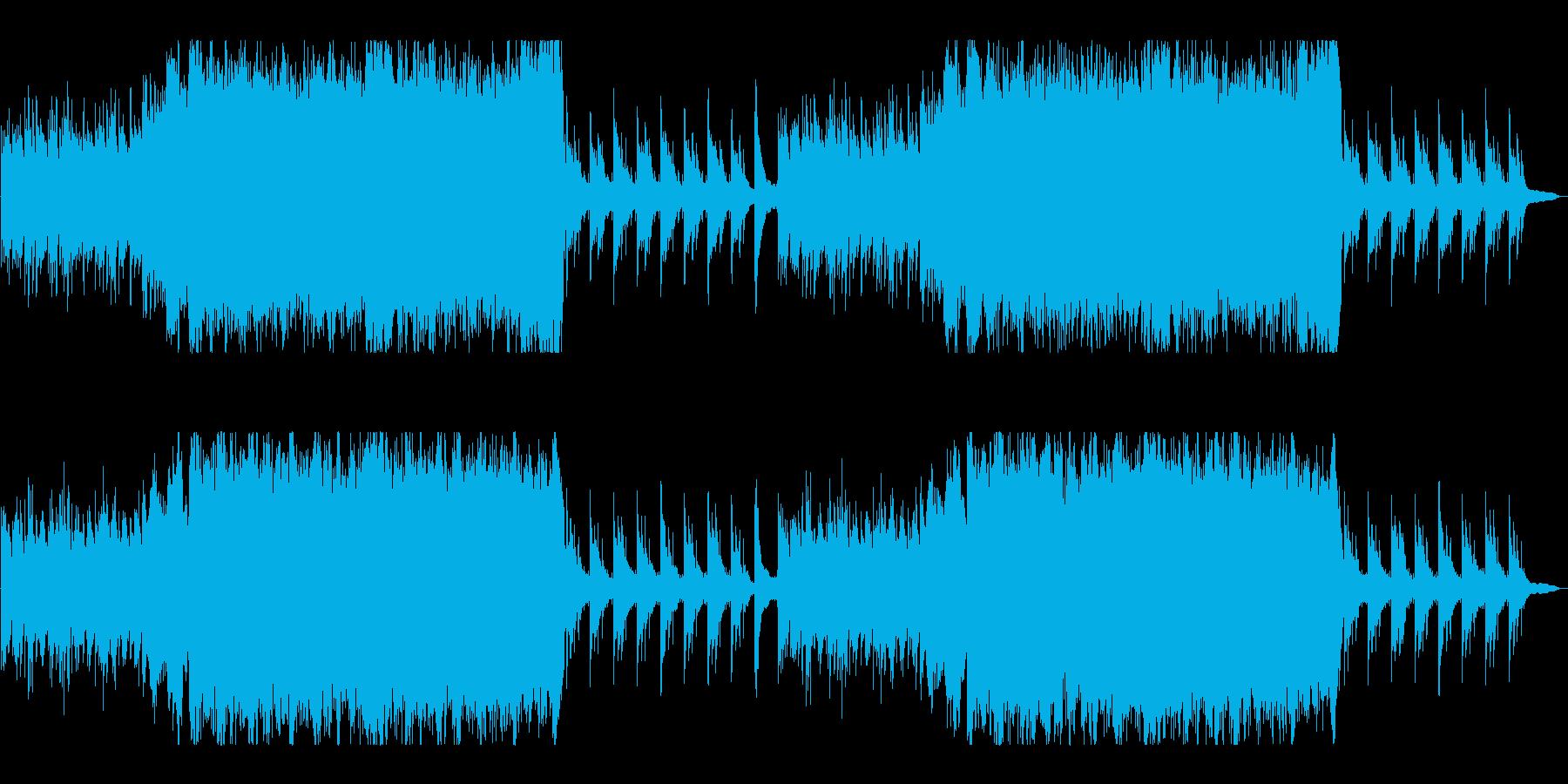 幻想的、感動的なファンタジーオーケストラの再生済みの波形