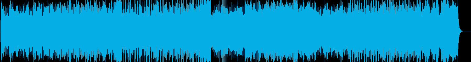ブラスとストリングスのOPっぽいBGMの再生済みの波形
