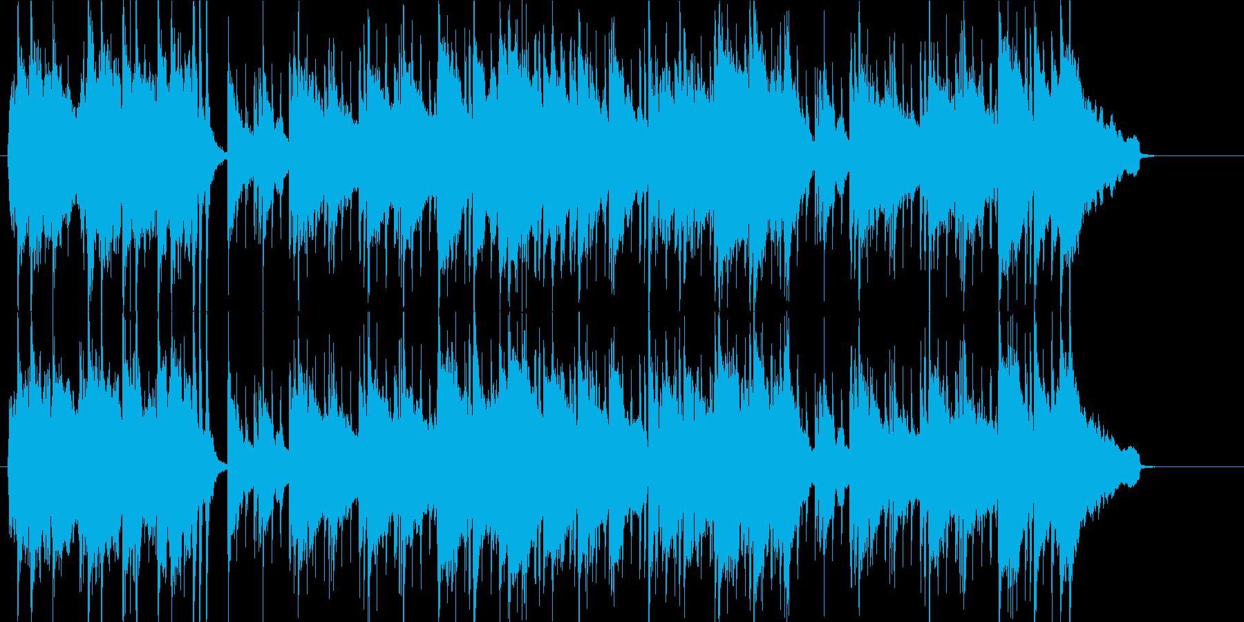 ニュースのオープニング、ギターメロの再生済みの波形