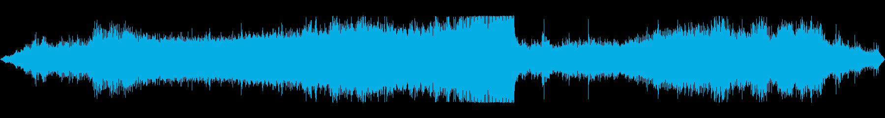 ディーゼルカーの走行音 エンジン音の再生済みの波形