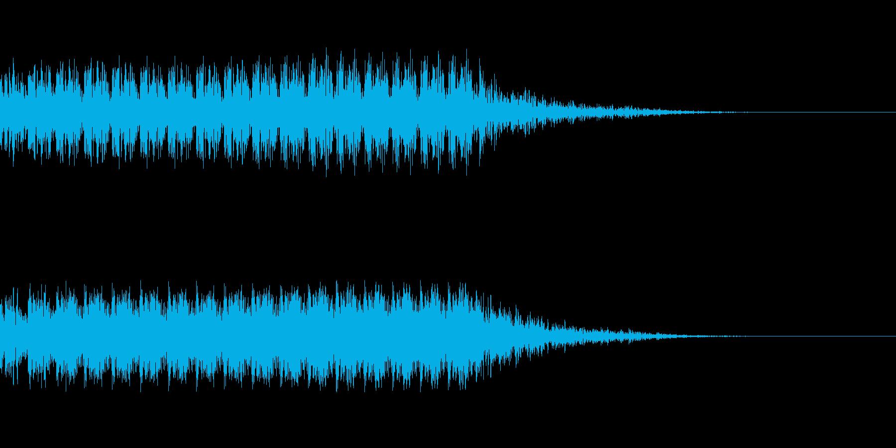 マシンガンの発砲音の再生済みの波形