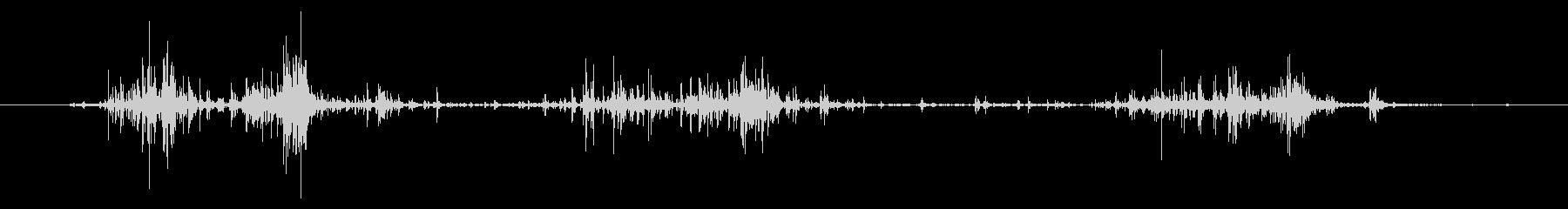 タブレッド菓子を出す音3モノラルの未再生の波形