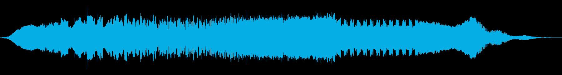 ワープフィールド信号の再生済みの波形