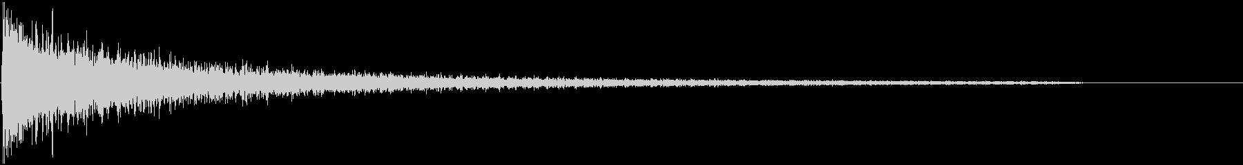 ガーン(ピアノ)の未再生の波形