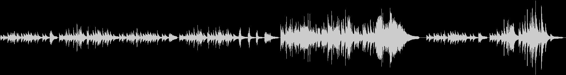 独特な浮遊感のヒーリング、ピアノソロ♪の未再生の波形