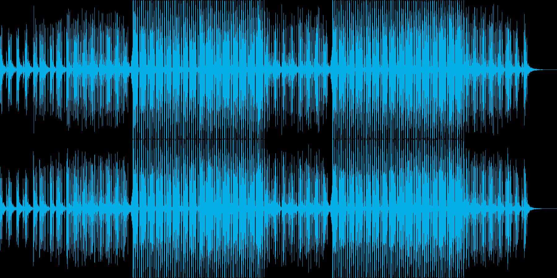 浮遊感のあるシンセが淡々と続くテクノの再生済みの波形