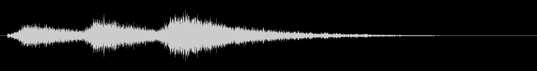 [生録音]電動モーターが短く回る(3回)の未再生の波形