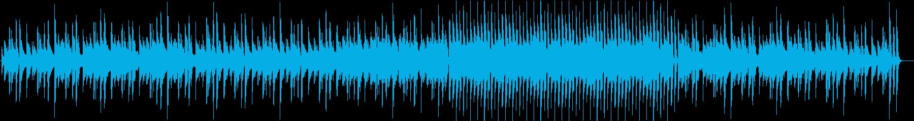 のほほんとした感じのギターソロ曲の再生済みの波形