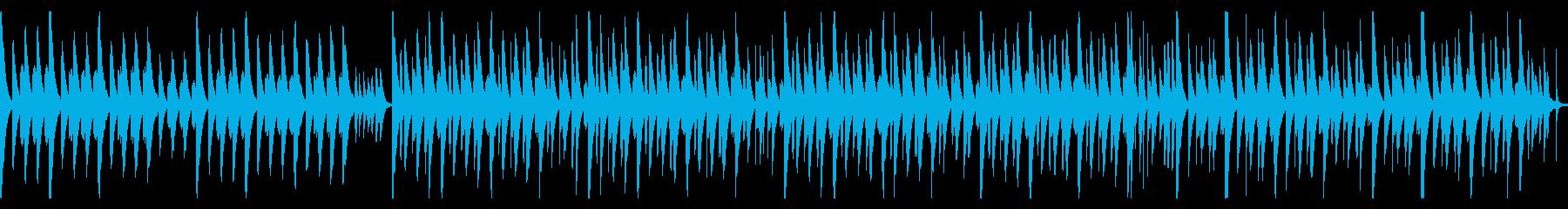マリンバと打楽器のかわいいほのぼのBGMの再生済みの波形