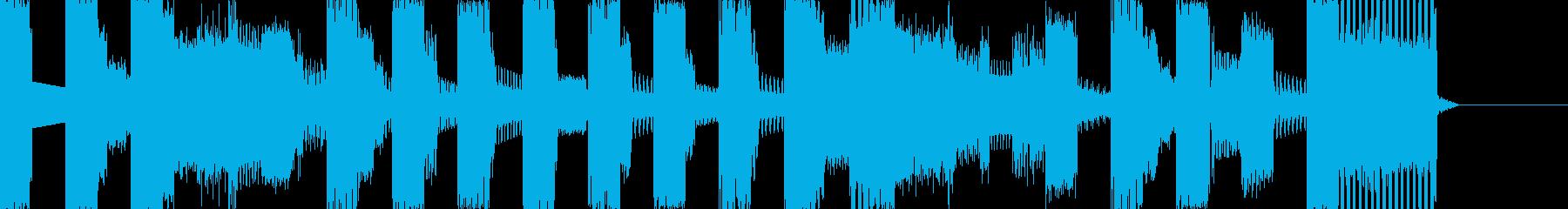 ゲーム風サウンドのジングルの再生済みの波形