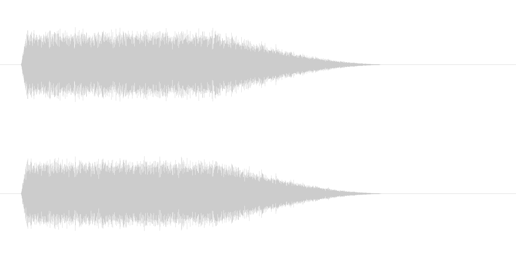 上昇イメージの未再生の波形