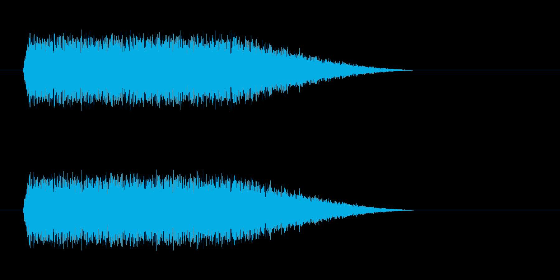上昇イメージの再生済みの波形