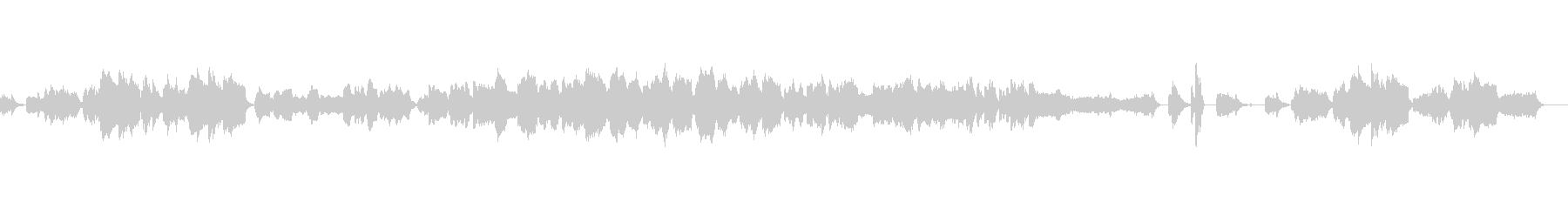 ピアノと弦のゆったりとしたアンサンブルの未再生の波形