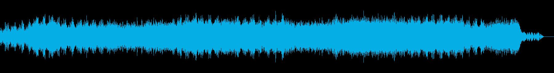 激しくダークな雰囲気のデジタルサウンドの再生済みの波形