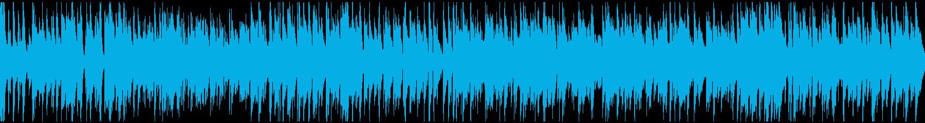 わくわくするライトなジャズ ※ループ版の再生済みの波形
