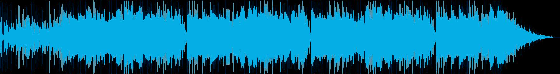 懐かしい雰囲気の和風BGMの再生済みの波形
