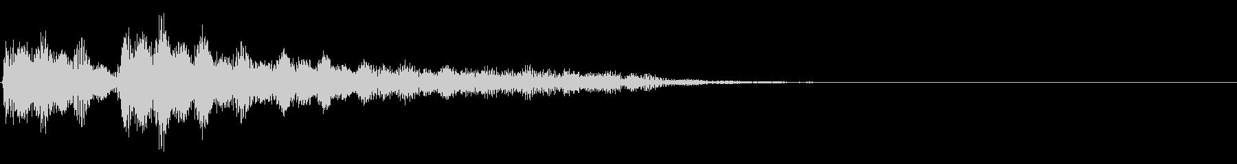 ぶぶー(不正解)の未再生の波形