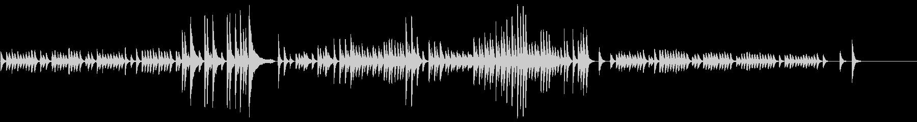 考え中のピアノ曲の未再生の波形