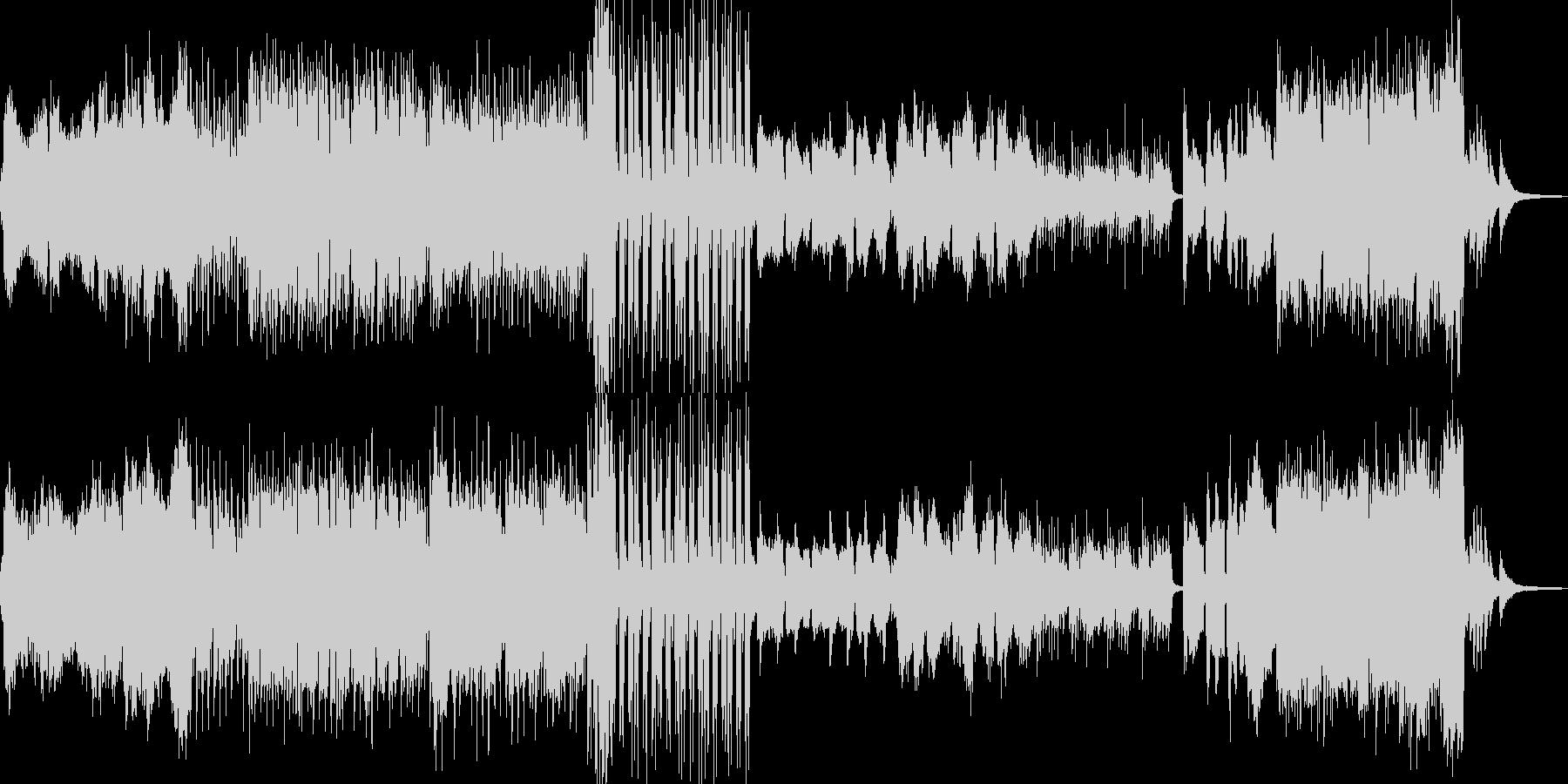 枯れ葉が舞い散るイメージ Cの未再生の波形