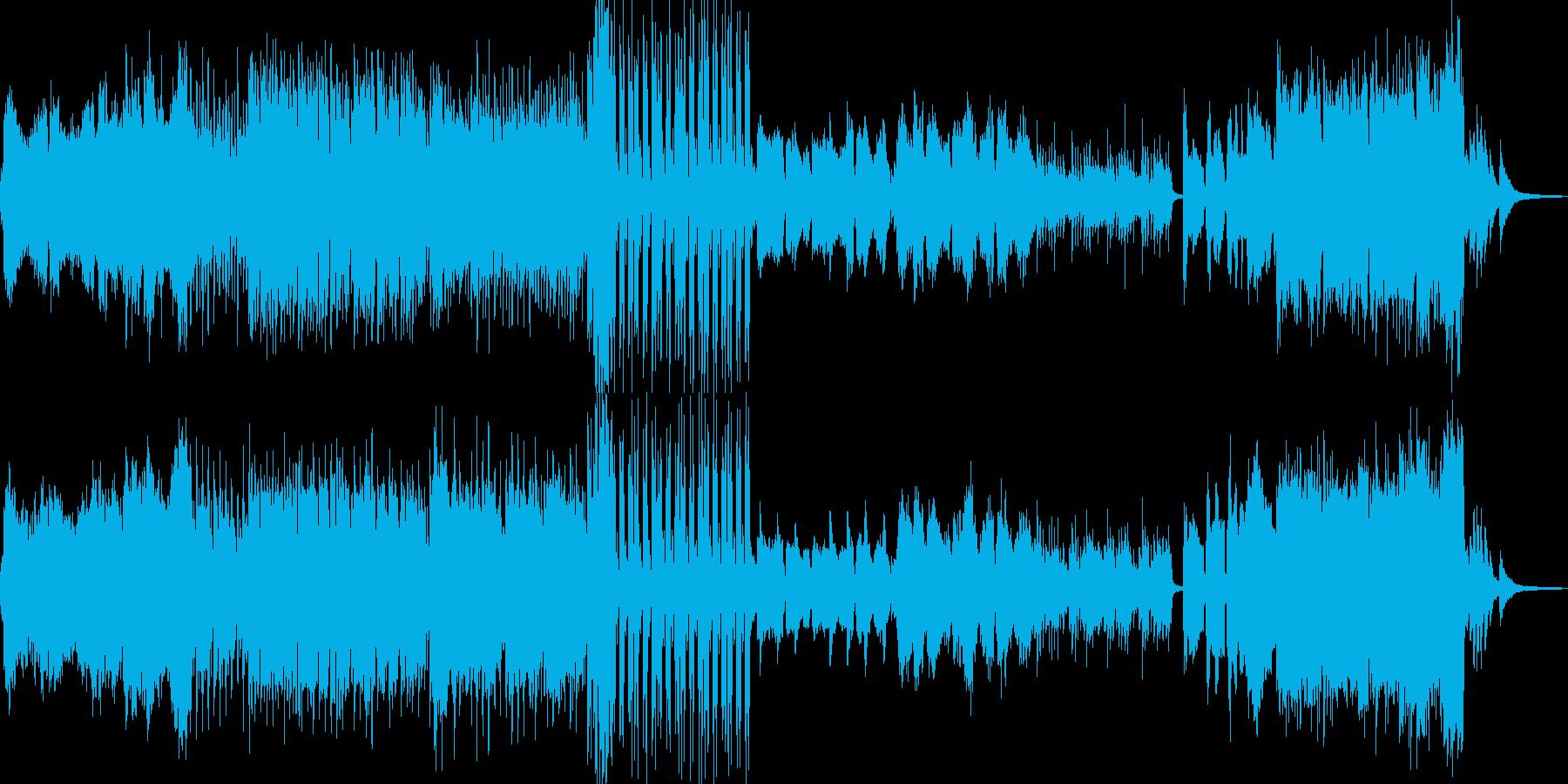 枯れ葉が舞い散るイメージ Cの再生済みの波形