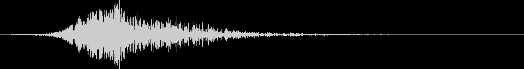 どーん:オープニングロゴなどの締めの音3の未再生の波形
